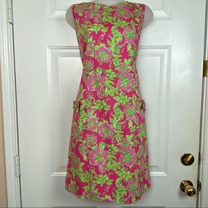 LILLY PULITZER Hibiscus Sleeveless Shift Dress 12